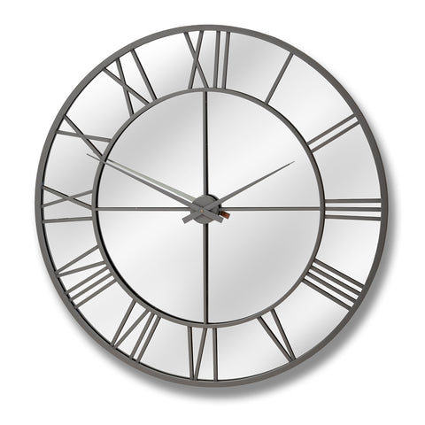 Hill Interiors Outdoor Mirrored Wall Clock
