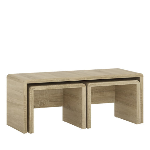 Furniture To Go Wide Nest of Tables in Sonama Oak