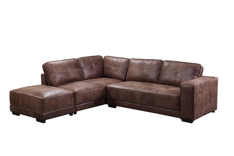 CFD Colorado Corner Sofa Suite with Footstool - Tan or Black