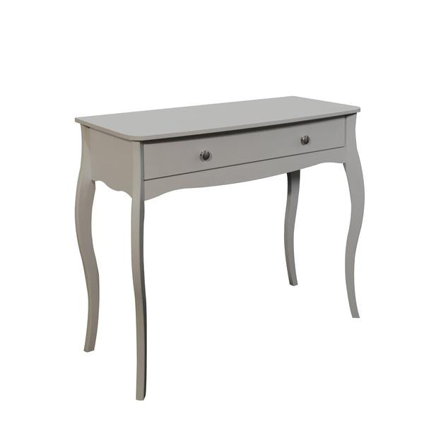 Baroque 1 Drawer Dressing Table (Available in White, Dark Coffee & Grey)