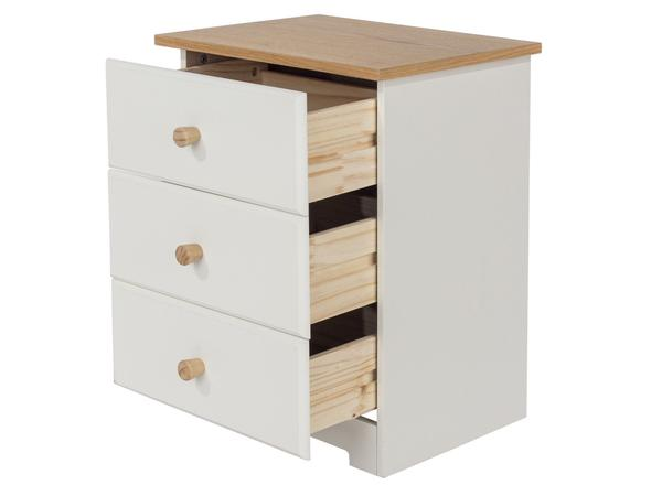 Colorado 3 Drawer Bedside Table