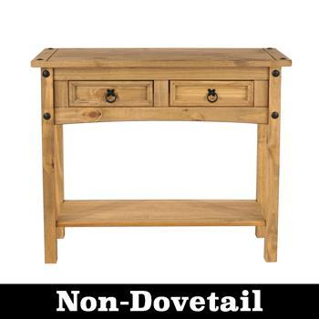 Corona Pine 2 Drawer Console Table - No Dovetail