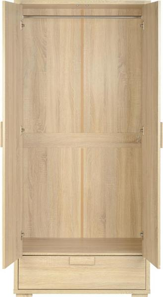 Cambourne 2 Door 1 Drawer Wardrobe in Sonoma Oak Effect Veneer