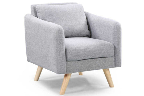 Sleep Design Longdon Modern Fabric Armchair Grey