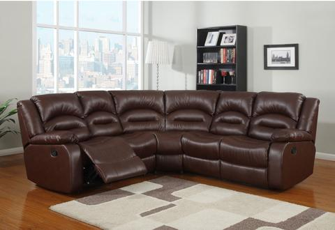 CFD Maya Luxurious Reclining Corner Sofa Suite in Brown, Cream & Black