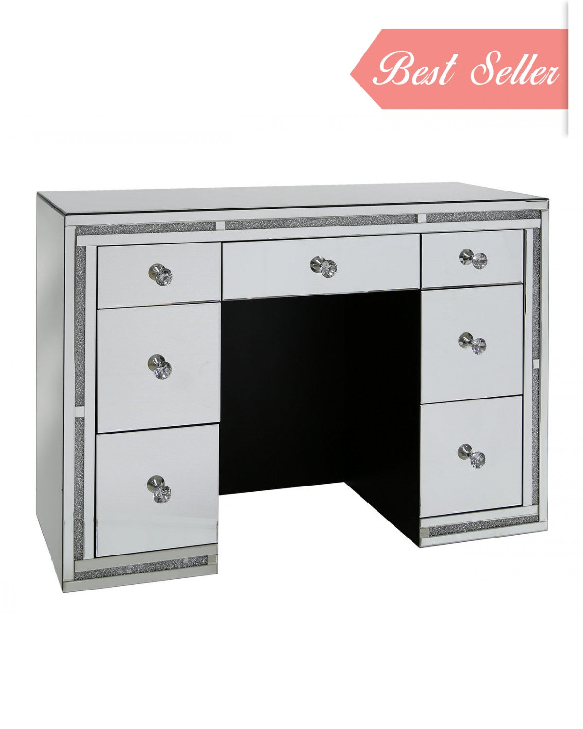Milano Mirror 7 Drawer Dressing Table