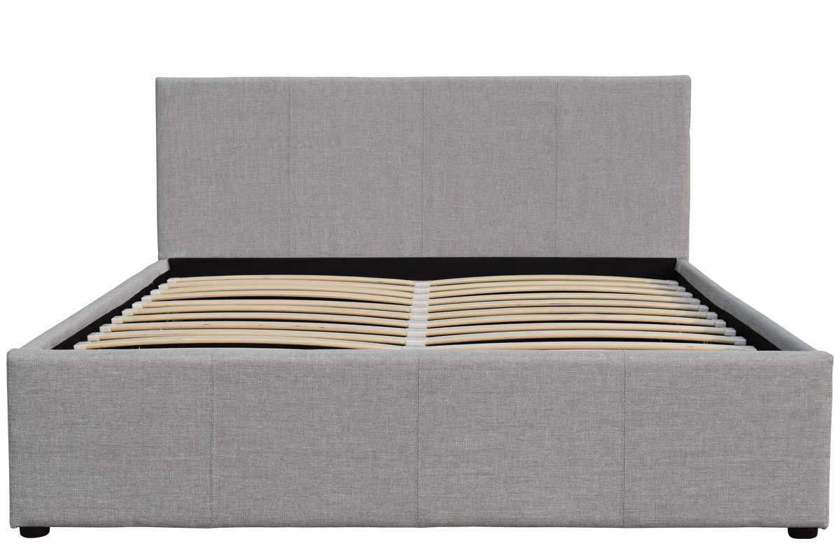 Sleep Design Richmond Ottoman Storage Grey Fabric Bed