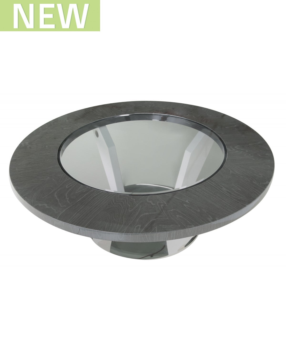 Evoke Dark Grey Round Coffee Table