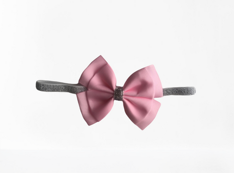 Flossy Bow Pink