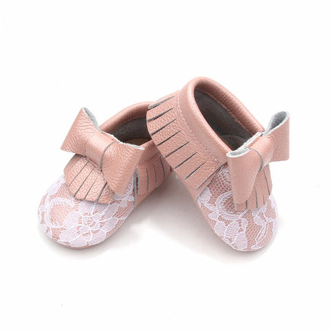 Blush and Lace Moccasins