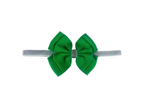 Flossy Bow Green