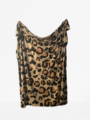 Animal print cotton swaddle