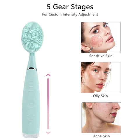 Image of Hand-held Facial Cleansing Instrument