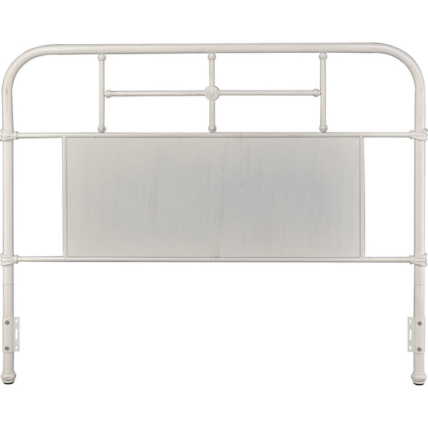 Cheriton Antique White Metal Headboard