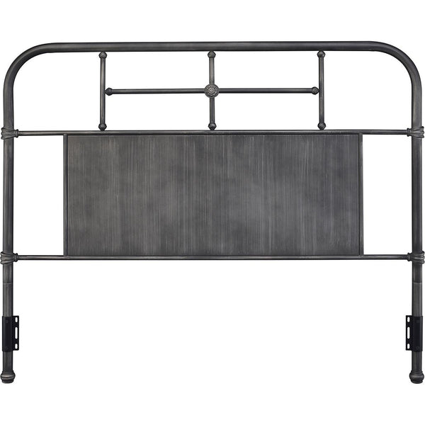 Cheriton Gray Metal Headboard