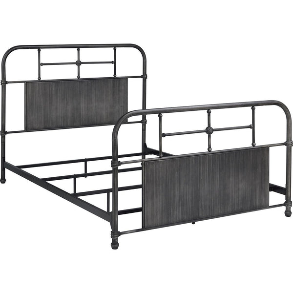 Cheriton Gray Metal Bed