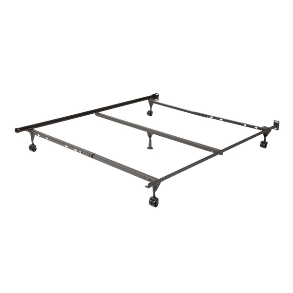 Deluxe Full/Queen Steel Bedframe with Rollers