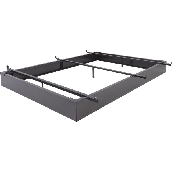 "Metal Hospitality Bed Base in Java Brown - 7.5"" Height"