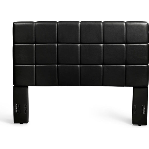 Kenora Headboard in Black Faux Leather