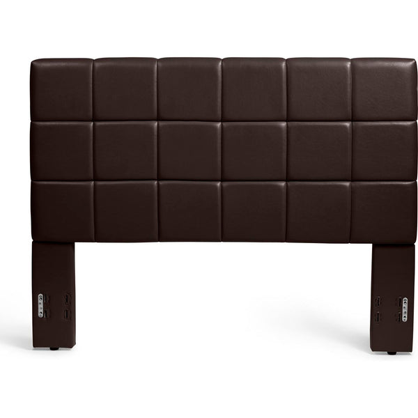 Kenora Headboard in Brown Faux Leather
