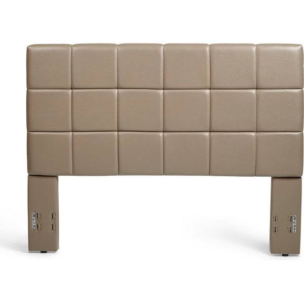 Kenora Headboard in Taupe Faux Leather