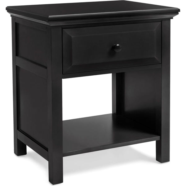 Cottage Nightstand - Ebony Black