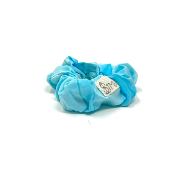 Aqua Watercolor Scrunchie