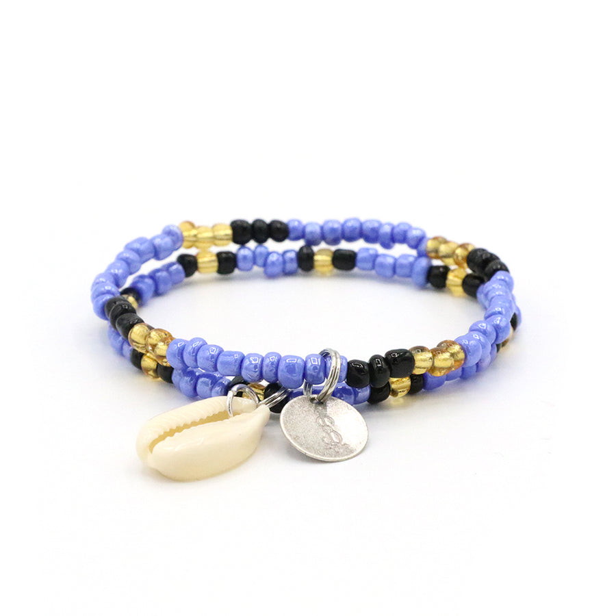 Starry Night Cowrie Shell Bracelet Set