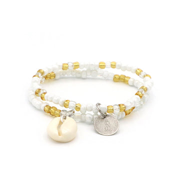 Champagne Cowrie Shell Bracelet Set