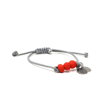 Red Vegan Leather Pipeline Bracelet