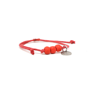 Candy Red Waxed Pipeline Bracelet