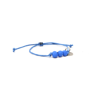 Capri Blue Waxed Pipeline Bracelet