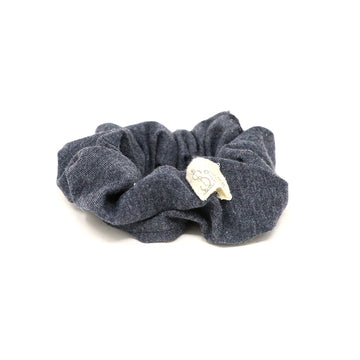 Charcoal Gray Scrunchie