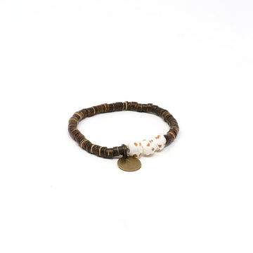 White Coconut Pipeline Bracelet