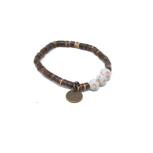 Grey Coconut Pipeline Bracelet