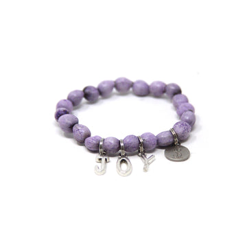 Lilac Lucky Charmz Beaded Bracelet. Handmade & brings good luck