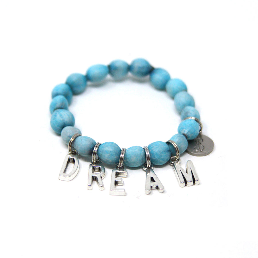 Turquoise Lucky Charmz Beaded Bracelet. Handmade from Job's Tears seeds & brings good luck