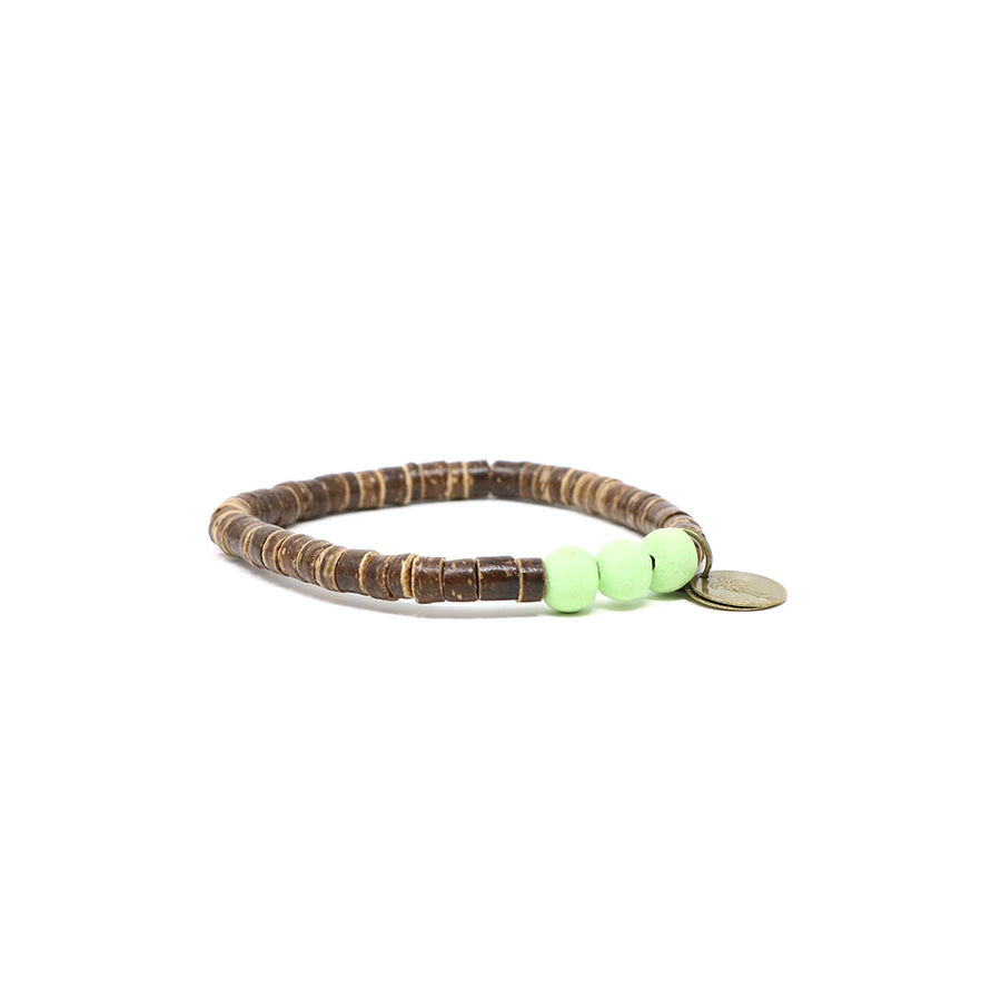 Lemongrass Coconut Pipeline Bracelet