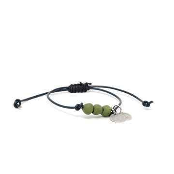 Olive Moss Vegan Leather Pipeline Bracelet