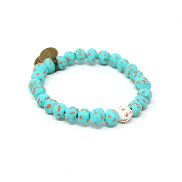 Men's ONEderful White Charm Bracelet