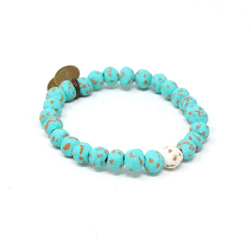 Men's ONEderful White Mission Bracelet