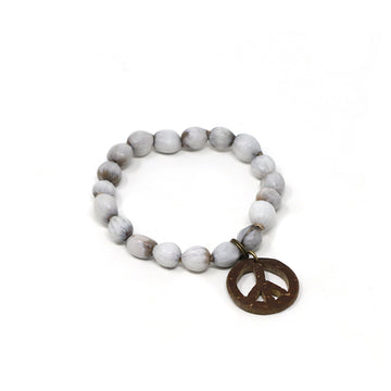 Natural Peace Beaded Bracelet
