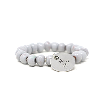 Pebble Gray Charm Bracelet