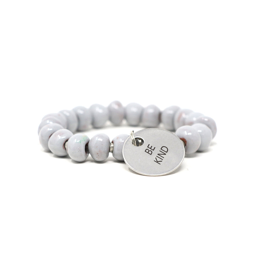Pebble Grey Charm Bracelet