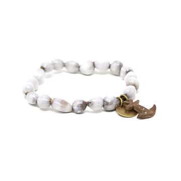 Natural Anchor Beaded Bracelet