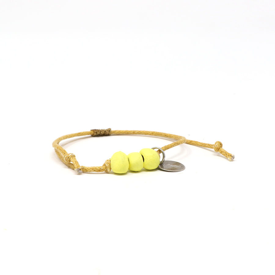 Pineapple Yellow Waxed Pipeline Bracelet