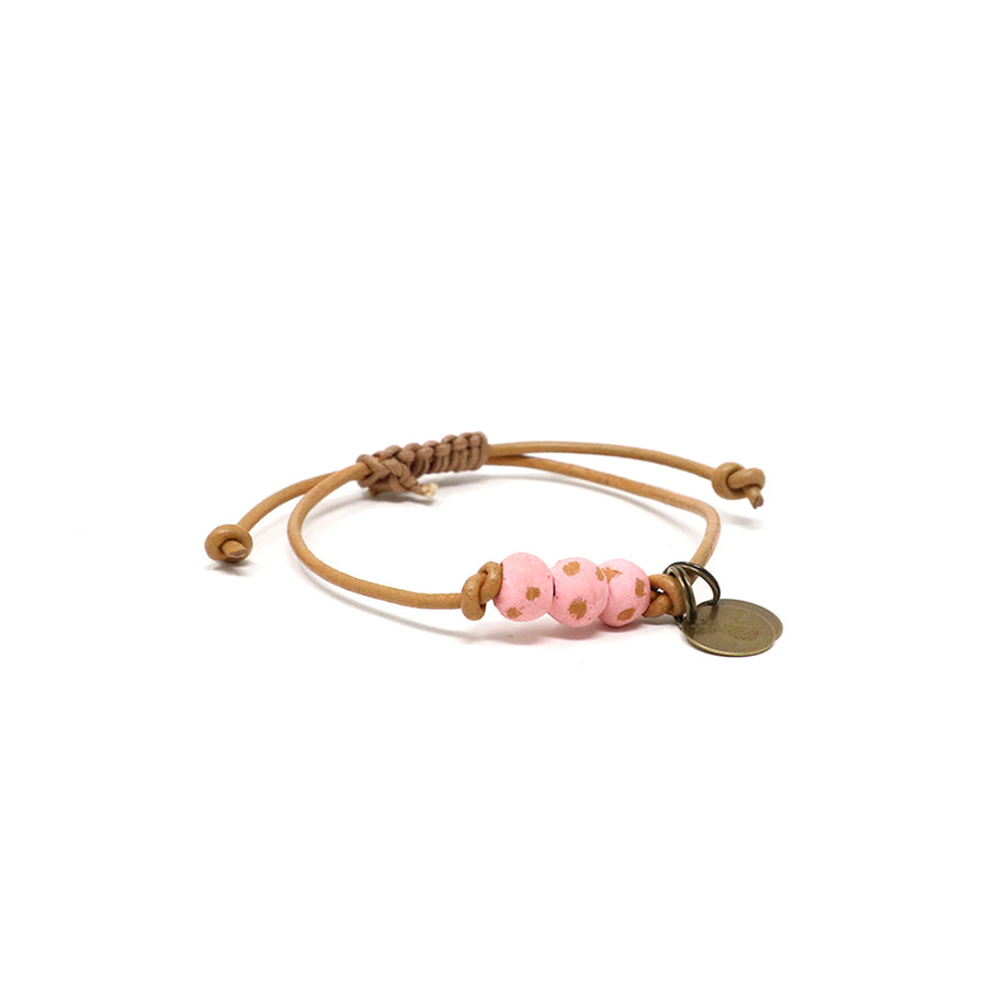 Rose Pink Vegan Leather Pipeline Bracelet
