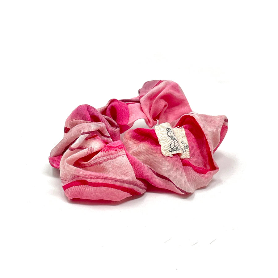Ruby Pink Watercolor Scrunchie