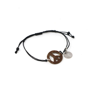 Peace Coconut String Bracelet