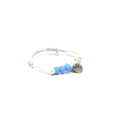 Simbi Blue Vegan Leather Pipeline Bracelet